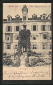 AK Bad Schauenburg, Haupteingang zum Hotel