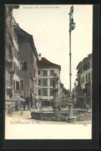 AK Schaffhausen, Vorstadt und Mohrenbrunnen