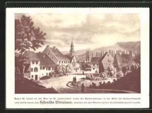 AK St. Jakob, Strassenpartie mit Historischem Gasthaus
