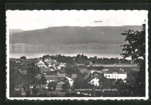 AK Cudrefin, Vue générale, Blick über den Ort