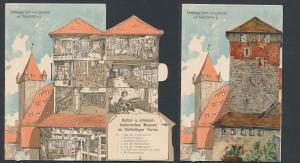 Mechanische-AK Nürnberg, Fünfeckiger Turm mit Luginsland und Kaiserstallung, Folterkammer