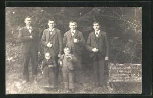 AK Sulzbach Oberegg, Geschwistergruppe mit den Liliputanern Seppetoni und Katharina