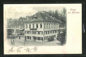 Relief-AK Herisau, Blick auf das Hotel Heinrichsbad
