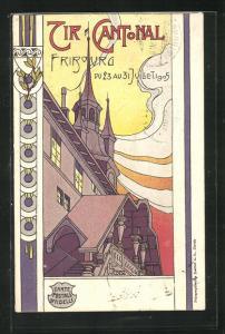 AK Fribourg, Tir Cantonal, Schützenfest 1905, Ortspartie
