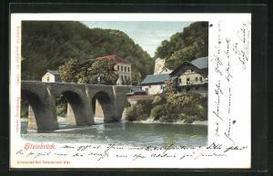 AK Steinbrück, Teilansicht mit Brücke