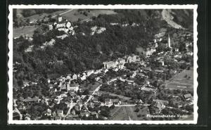 AK Vaduz, Fliegeraufnahme der Stadt