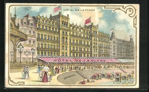 Lithographie Ostende, Hôtel de la Plage