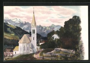 AK Inner Laterns, Kirche im Ortsbild