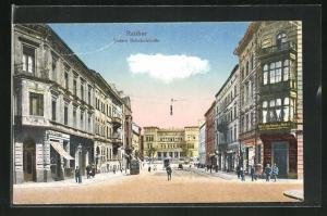 AK Ratibor, Blick in die Untere Bahnhofstrasse