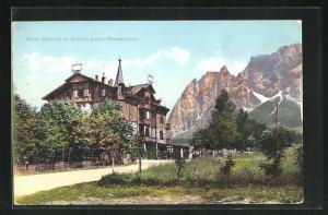 AK Cortina, Hotel Bellevue gegen Pomagognon