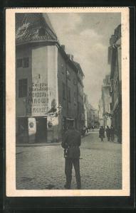 AK Riga, Strasse in der Altstadt