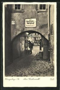 AK Königsberg, Durchgangstor zum Fischmarkt