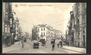 AK Ostende, Boulevard Van Iseghem et rue Royale
