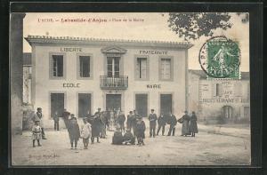 AK Labastide-d`Anjou, Place de la Mairie
