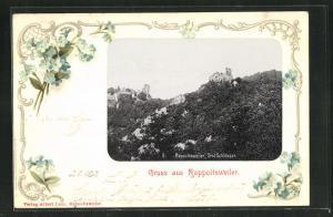 Passepartout-AK Rappoltsweiler, Drei Schlösser