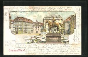 Lithographie Wien, Am Hof, Denkmal