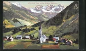 AK Mittelberg im kleinen Walstertal, Panorama