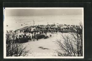 Foto-AK Bregenz, Eisfest 1929 auf dem Bodensee