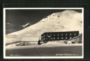 Foto-AK Fontanella,  Sporthotel Faschina im Winter