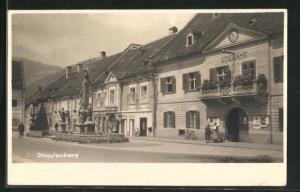 Foto-AK Kapfenberg, Partie am Stadtamt