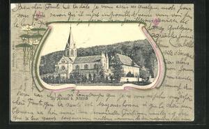 Passepartout-AK St. Morand, Blick auf Kirche