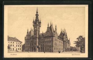 AK Elbing / Elblag, Ansicht vom Rathaus