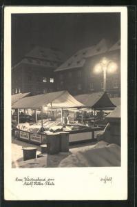 AK Graz, Winterabend am -Platz