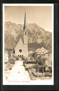 Foto-AK Schaan, Blick auf Kirche