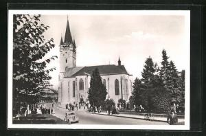 AK Presov, Hlinkagasse mit Kirche