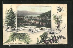 Passepartout-AK Gerardmer, Ortsansicht