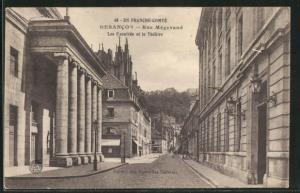 AK Besancon, Rue Megevand, Les Facultes et le Theatre