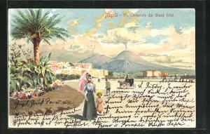 AK Napoli, Via Caracciolo dal Grand Hotel