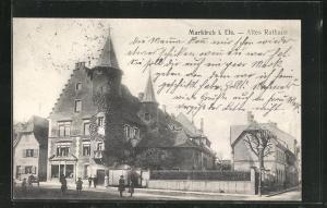 AK Markirch, Strassenpartie am alten Rathaus