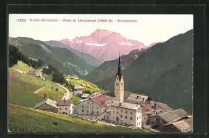 AK Pieve di Livinalongo-Buchenstein, Ortsansicht aus der Vogelschau