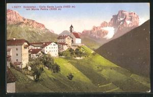 AK Colle Santa Lucia, Ortsansicht mit Monte Pelmo