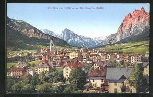 AK Cortina, Ortsansicht verso Col Rosá