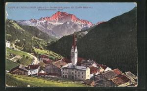 AK Pieve di Livinalongo-Buchenstein, Gesamtansicht gegen die Civetta