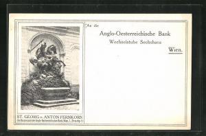 AK Wien, Denkmal St. Georg v. Anton Fernkorn