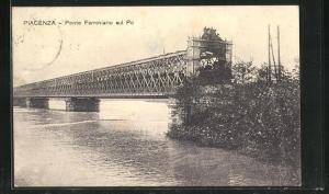 AK Piacenza, Ponte Ferroviario sul Po