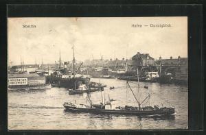 AK Stettin, Hafen - Dunzigblick