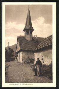 AK Sondernach-Bühl, Strassenpartie bei der Kirche