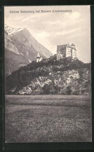 AK Balzers, Blick auf Schloss Gutenberg