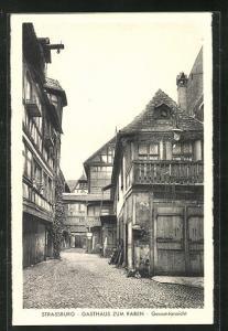 AK Strassburg, Gasthaus zum Raben, Gesamtansicht