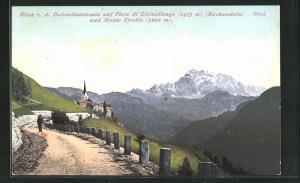 AK Buchenstein, Blick v. Dolomitenstrasse auf Pieve di Livinallongo