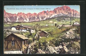 AK Alvera, Ortsansicht mit Monte Cristallo