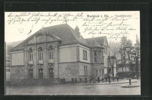 AK Markirch, Strassenpartie am Stadttheater
