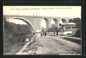 AK Nogent-sur-Marne-Champigny, Chemin de Halage - Le Petit Bres et le Viaduc