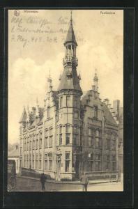 AK Meeren, Postkantoor, Eckfassade