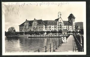 AK Lochau, Strandpalast Hotel, Holzsteg