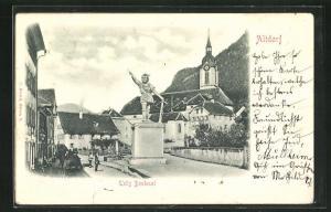 Relief-AK Altdorf, Tells Denkmal
